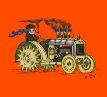 Steampunk Vintage Tractor Kids Tee