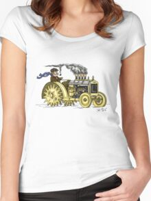 Steampunk Vintage Tractor Women's Fitted Scoop T-Shirt