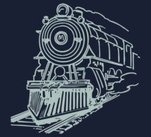 vintage train illustration One Piece - Long Sleeve