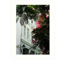 Cuban facade Art Print