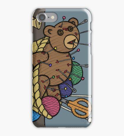 Teddy Bear And Bunny - Pin Cushion iPhone Case/Skin