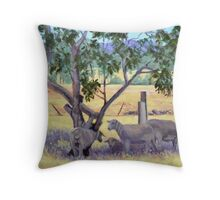 """Sheep in Shadow"" Throw Pillow"