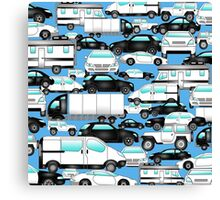 SPLASHYARTYSTORY - ALL ABOUT CARS blue Canvas Print