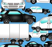 SPLASHYARTYSTORY - ALL ABOUT CARS blue Sticker