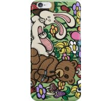 Teddy Bear And Bunny - Chasing The Dragon iPhone Case/Skin