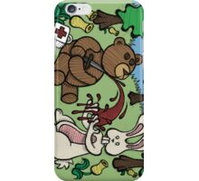 Teddy Bear And Bunny - Giving Blood iPhone Case/Skin