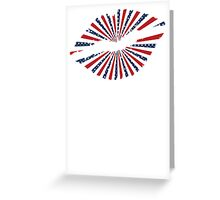 Stars and Stripes Lips Greeting Card