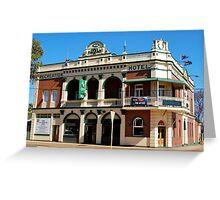 Recreation Hotel Boulder Western Australia Greeting Card