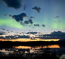 Midnight summer Northern lights Aurora borealis by ImagoBorealis