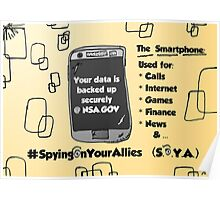 NSA Smartphone backup cartoon Poster