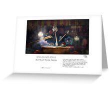 """ Pékin "" en Mots & Image (M.Konecka) Greeting Card"
