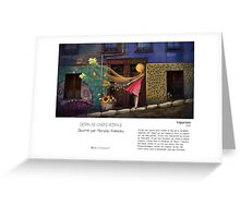 """Valparaiso"" en Mots & Image (M.Konecka) Greeting Card"
