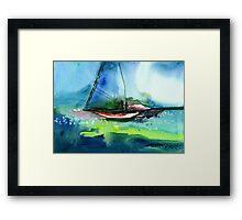 Sailing 2 Framed Print
