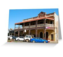 Albion Shamrock Hotel - Boulder, W.Australia Greeting Card