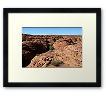 The Lost City, Kings Canyon, Australia Framed Print