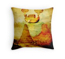 The Noah's Ark arrives on the tower of Babel Throw Pillow