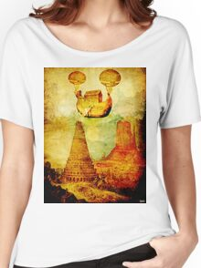 The Noah's Ark arrives on the tower of Babel Women's Relaxed Fit T-Shirt