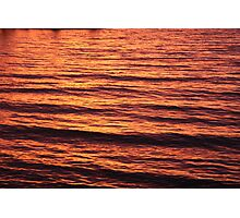 Sunset Waves Photographic Print