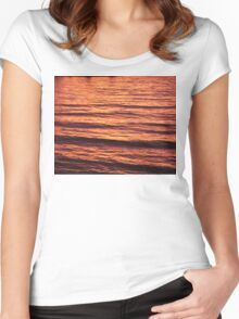 Sunset Waves Women's Fitted Scoop T-Shirt