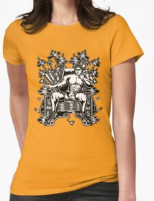 King's Throne of Barbells Womens Fitted T-Shirt