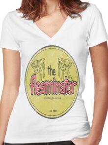 Fleaminator  Women's Fitted V-Neck T-Shirt
