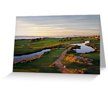 Golfing the Gong II Greeting Card