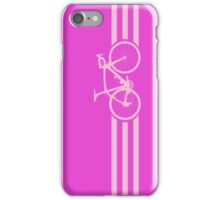 Bike Stripe Pink iPhone Case/Skin