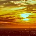 Industrial Sunset by Ray Warren