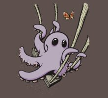 Octopus Swinging with Butterfly One Piece - Short Sleeve