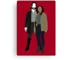 Abbie and Ichabod - Sleepy Hollow (2013) Canvas Print