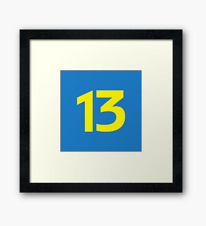 13 Framed Print