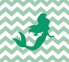 Ariel The little mermaid chevron by sweetsisters