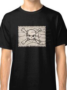 Skull Crack Stamp Classic T-Shirt