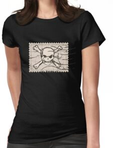 Skull Crack Stamp Womens Fitted T-Shirt