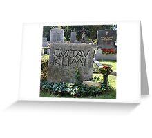Grave of Gustav Klimt. Greeting Card