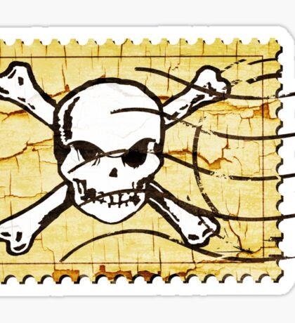 Skull Crack Stamp 2 Sticker