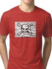 Skull Crack Stamp 3 Tri-blend T-Shirt