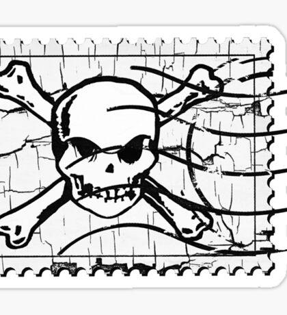 Skull Crack Stamp 3 Sticker