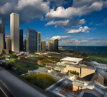 Chicago Rooftop View by Adam Bykowski