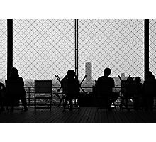 Resting at Eiffel Tower Photographic Print