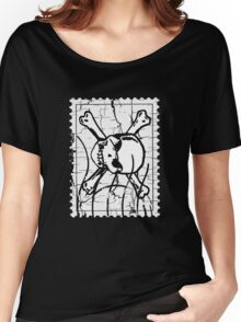 Skull Stamp Women's Relaxed Fit T-Shirt