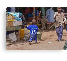 Young Chelsea Fan in The Gambia Canvas Print