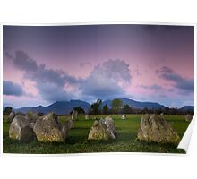 Castlerigg stone circle sunrise Poster