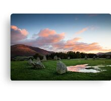Castlerigg stone circle sunrise Canvas Print