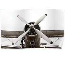 Old Plane Propeller Poster