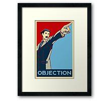 Objection - R/B Framed Print