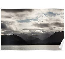 Mountains and clouds 1 Poster