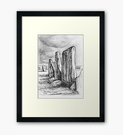 Beltany Stone Circle Framed Print