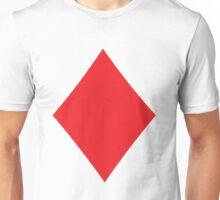 Poker Red Diamond Suit Unisex T-Shirt