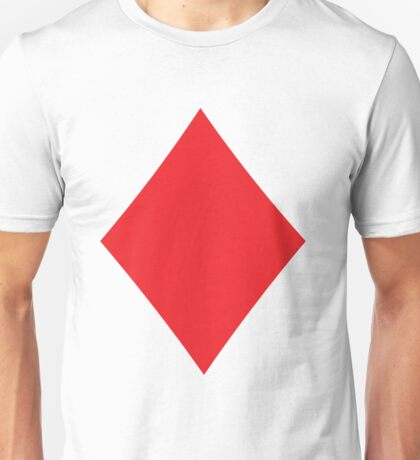 Poker Red Diamond Suit Unisex T-Shirt